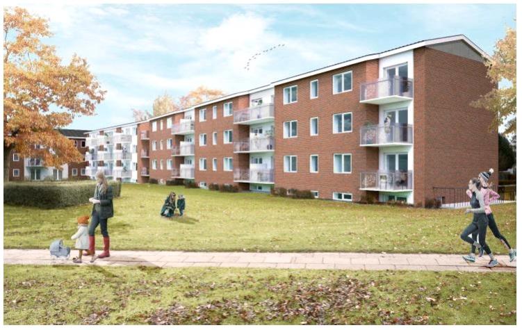 Højstruphave i Odense – et stort renoverings- og moderniseringsprojekt af 247 boliger