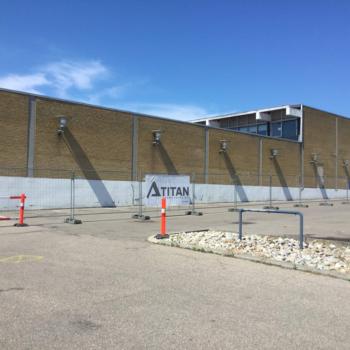 Nedrivning af Helsinge bycenter på Sjælland