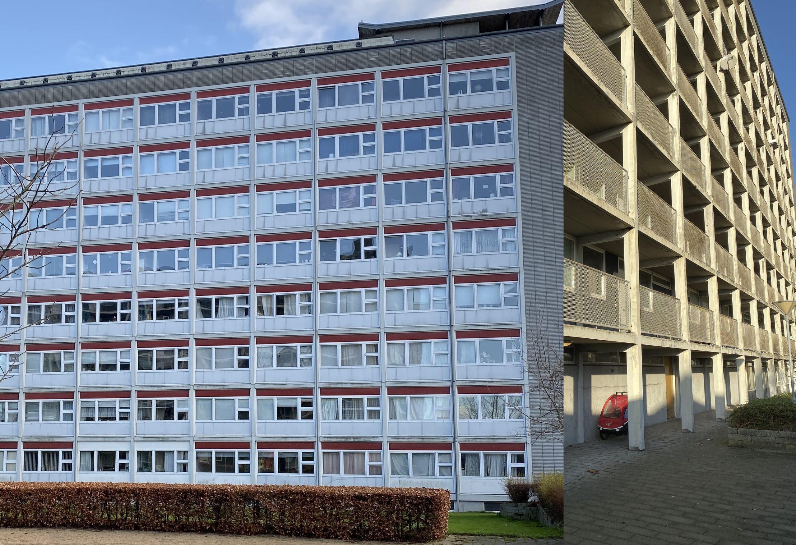 Fire 8-etagers boligblokke i Odense
